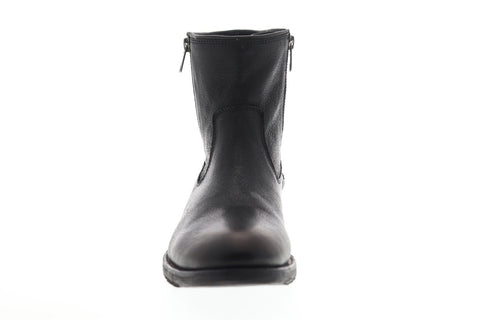Frye Ethan Double Zip 88114 Mens Black Leather Zipper Casual Dress Boots Shoes