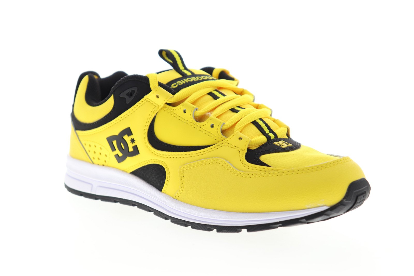 DC Kalis Lite S ADYS100388 Mens Yellow Synthetic Lace Up Athletic Skate Shoes