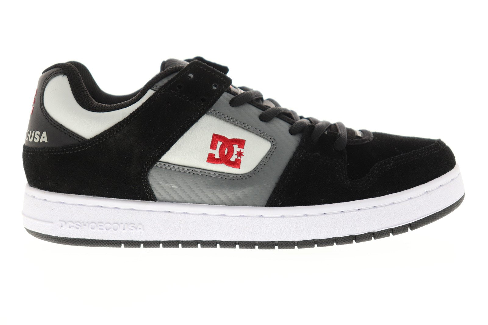 DC Manteca Mens Black Suede /& Synthetic Athletic Lace Up Skate Shoes