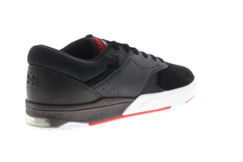 DC Tiago S ADYS100386 Mens Black Suede Lace Up Athletic Skate Shoes