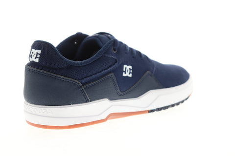 DC Barksdale ADYS100472 Mens Blue Suede Lace Up Athletic Skate Shoes