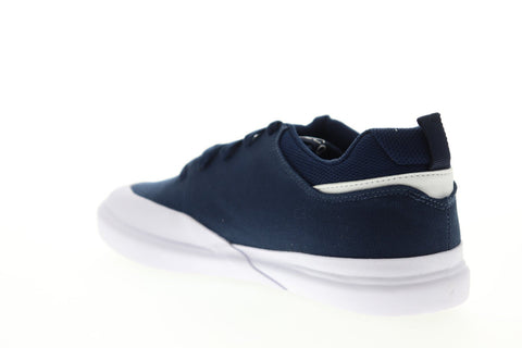 DC Infinite TX ADYS100526 Mens Blue Canvas Lace Up Athletic Skate Shoes
