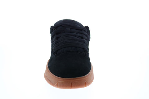 DC Central ADYS100551 Mens Black Suede Skate Inspired Sneakers Shoes