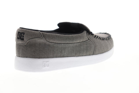 DC Villain 2 TX SE ADYS100568 Mens Gray Canvas Athletic Slip On Skate Shoes