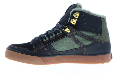 dc pure ht wc se adys400047 mens black synthetic athletic skate shoes