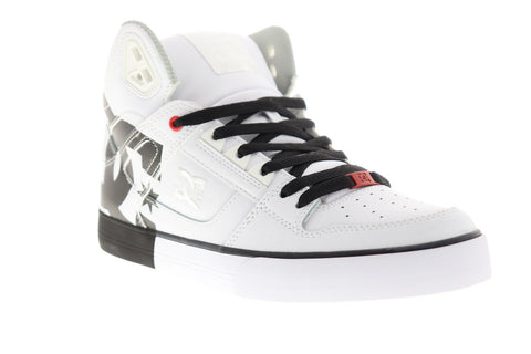 dc pure ht wc se adys400049 mens white synthetic athletic skate shoes