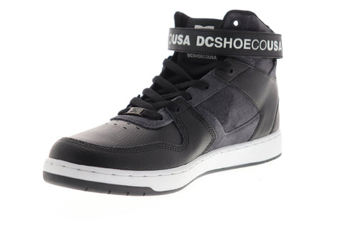 dc pensford se adys400053 mens black leather lace up athletic skate shoes