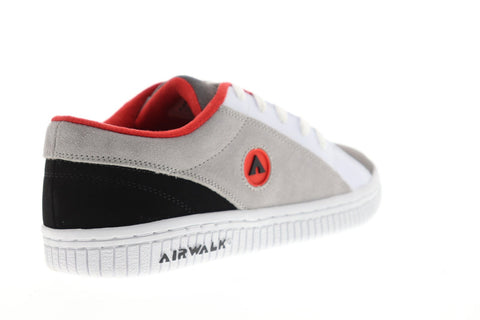 Airwalk The One Suede Tri Mens Gray Suede Athletic Lace Up Skate Shoes