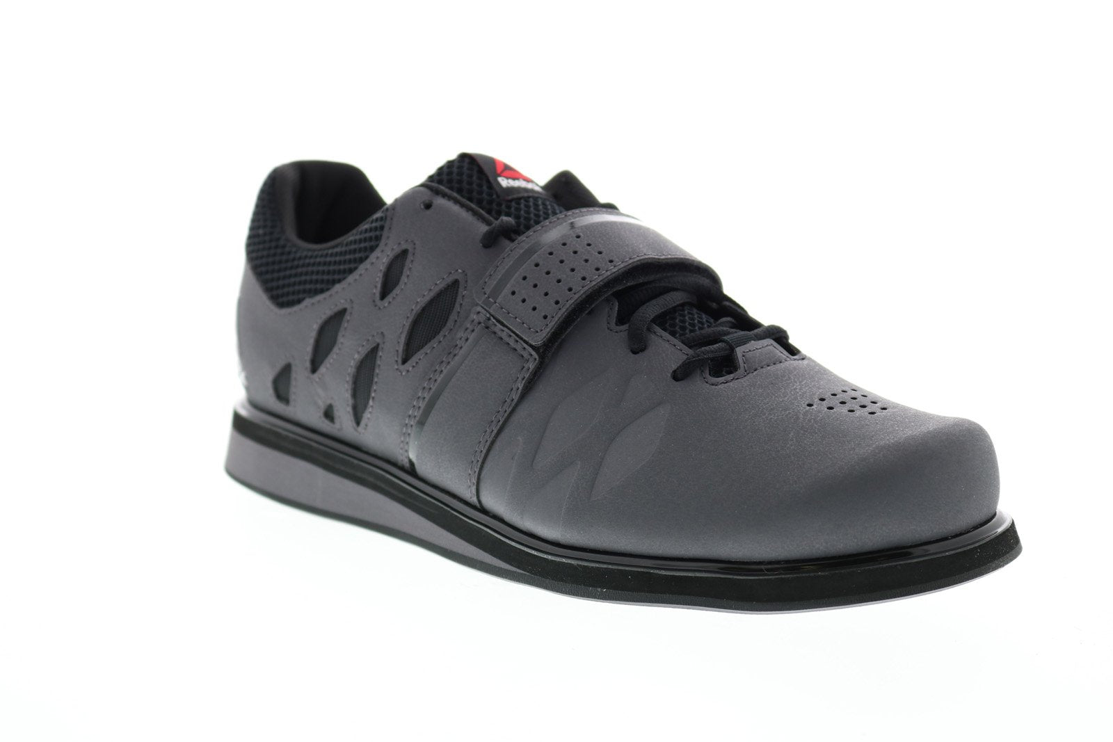 Reebok Lifter PR BD2631 Mens Gray Lace Up Athletic Weightlifting Shoes