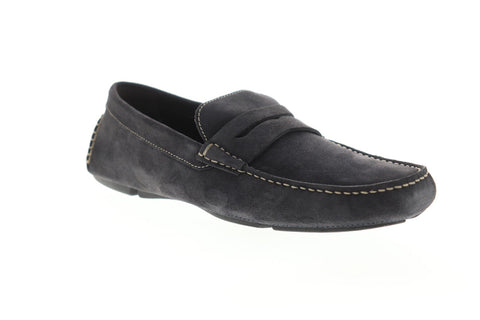 Bruno Magli Napoli BM600432 Mens Gray Suede Casual Slip On Loafers Shoes