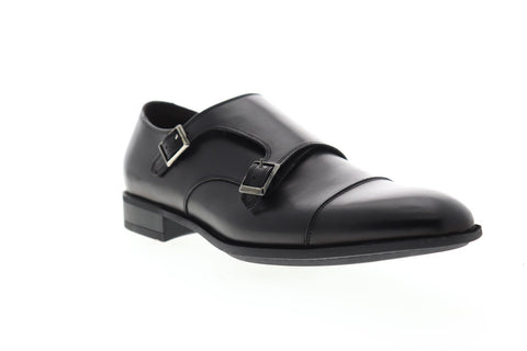 Bruno Magli Ilario BM600593 Mens Black Leather Dress Monk Strap