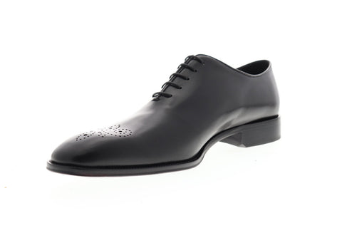 Bruno Magli Carli BM600626 Mens Black Leather Dress Lace Up Oxfords Shoes