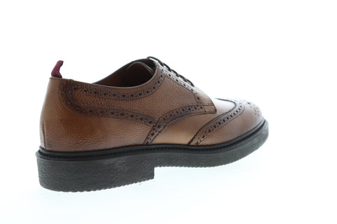 Bruno Magli Walton BM600645 Mens Brown Leather Dress Lace Up Oxfords Shoes