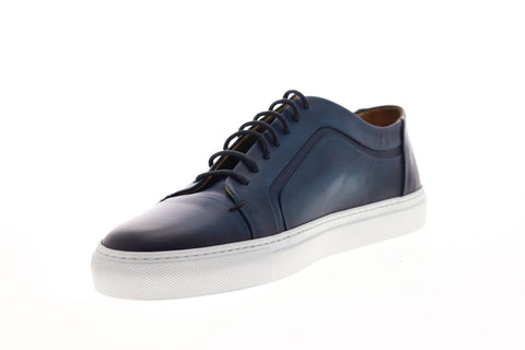 Bruno Magli Salvini BM600671 Mens Blue Leather Casual Fashion Sneakers Shoes
