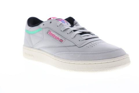 Reebok Club C 85 RAD BS5151 Mens Gray Leather Low Top Lace Up Sneakers Shoes