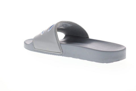 Champion Ipo Mens Gray Synthetic Slides Slip On Sandals Shoes