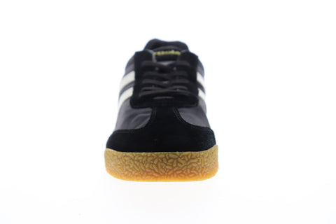Gola Harrier Nylon CMA176 Mens Black Nylon Lace Up Low Top Sneakers Shoes