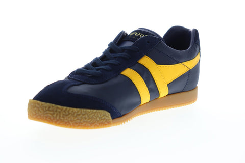 Gola Harrier Nylon CMA176 Mens Blue Nylon Lace Up Low Top Sneakers Shoes
