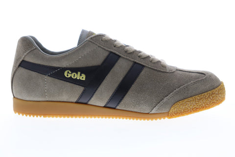 Gola Harrier Suede CMA192 Mens Gray Suede Lace Up Low Top Sneakers Shoes