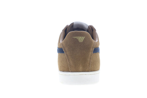 Gola Equipe Suede CMA495 Mens Brown Suede Lace Up Low Top Sneakers Shoes