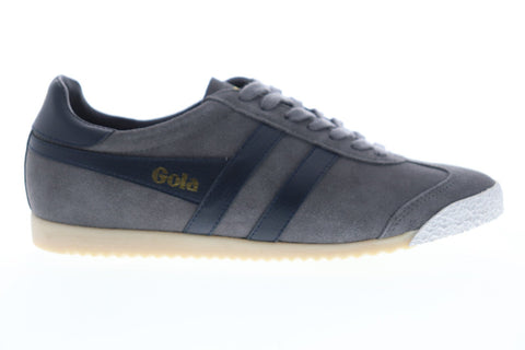 Gola Harrier 50 Suede CMA501 Mens Gray Suede Lace Up Low Top Sneakers Shoes