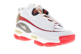 Reebok The Answer Dmx Mu CN7862 Mens White Leather Athletic Basketball Shoes