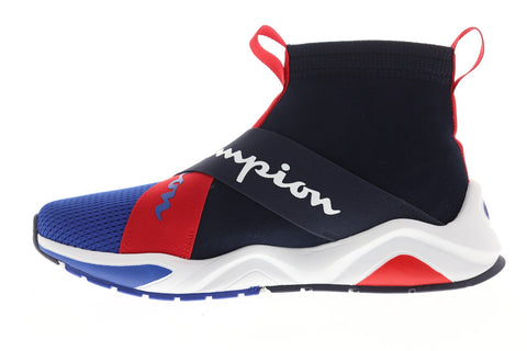 Champion Rally Crossover Blue Textile Athletic Slip On Training Shoes