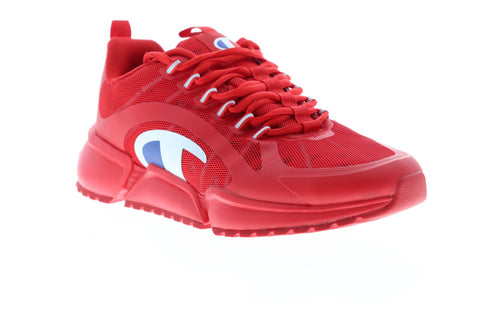 Champion RF Pro Runner CP100394M Mens Red Mesh Lace Up Low Top Sneakers Shoes