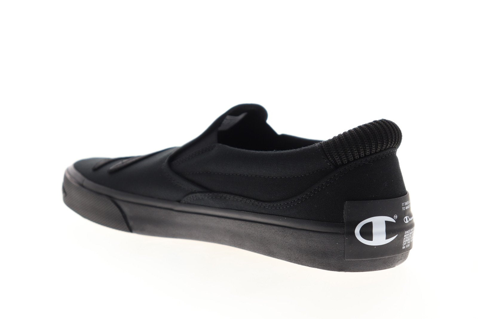 Champion Metro Slip On CP100623M Mens Black Canvas Sneakers Shoes