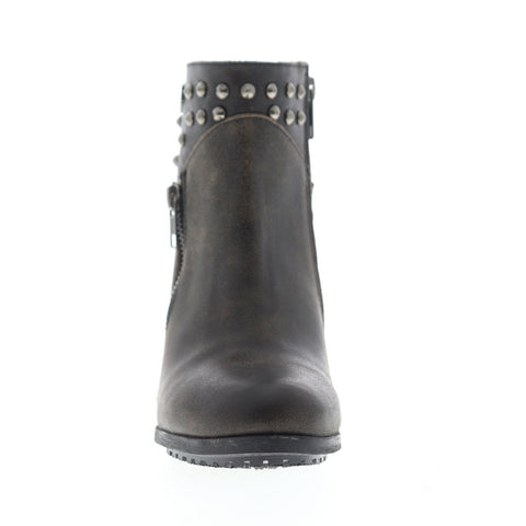Harley-Davidson Wexford D84116 Womens Gray Leather Zipper Motorcycle Boots Shoes