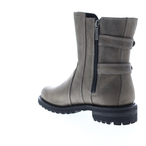 Harley-Davidson Fillon D84184 Womens Gray Leather Zipper Motorcycle Boots Shoes