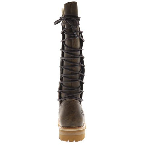 Harley-Davidson Dorland D84322 Womens Brown Leather Motorcycle Boots Shoes