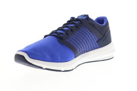 Reebok Hydrorush II DV4373 Mens Blue Canvas Lace Up Athletic Running Shoes