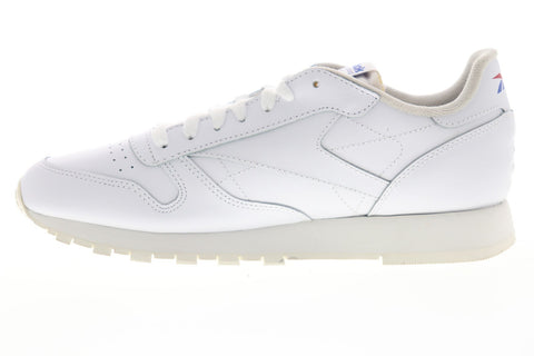 Reebok Classic Leather MU DV4629 Mens White Leather Low Top Sneakers Shoes
