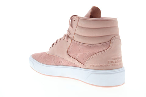 Reebok Freestyle HI Nova DV5192 Womens Pink Suede High Top Sneakers Shoes
