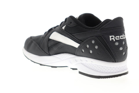 Reebok Pyro DV5575 Mens Black Canvas Lace Up Low Top Sneakers Shoes