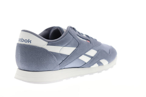 Reebok Classic Nylon Mens Blue Suede & Nylon Low Top Sneakers Shoes