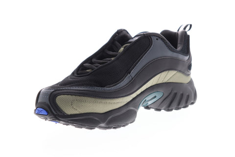 Reebok Daytona DMX MU DV5800 Mens Black Leather Low Top Sneakers Shoes