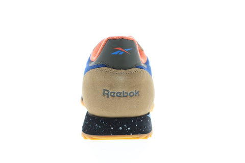 Reebok Classic Leather Ripple MU Mens Blue Suede Low Top Sneakers Shoes