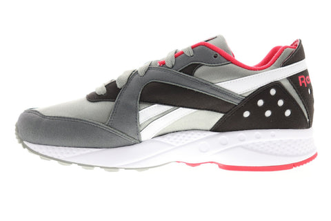Reebok Pyro DV7295 Mens Gray Suede Casual Lace Up Low Top Sneakers Shoes