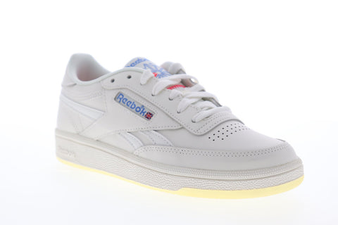 Reebok Club C Revenge DV7359 Womens Beige Leather Low Top Sneakers Shoes
