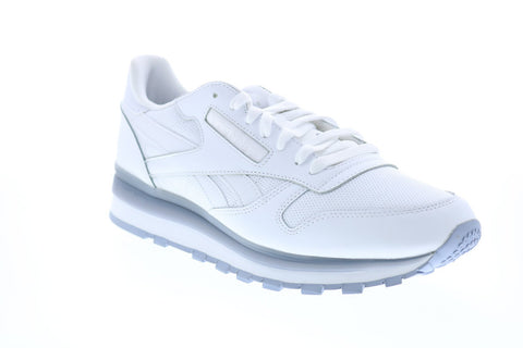 Reebok Classic Leather MU DV8625 Mens White Low Top Lifestyle Sneakers Shoes