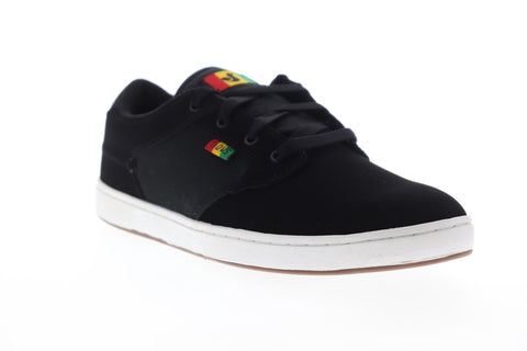DVS Quentin DVF0000228016 Mens Black Nubuck Lace Up Athletic Skate Shoes
