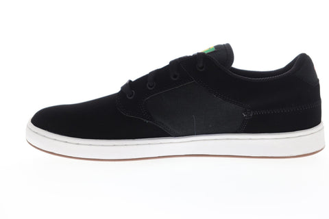 DVS Quentin Mens Black Nubuck Leather Lace Up Skate Sneakers Shoes