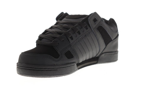 DVS Celsius Mens Black Leather Athletic Lace Up Skate Shoes