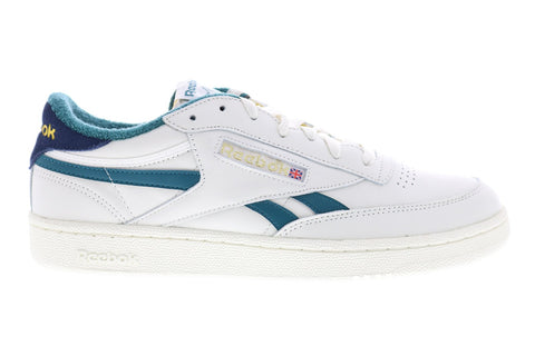 Reebok Club C Revenge MU EF3091 Mens White Leather Lifestyle Sneakers Shoes