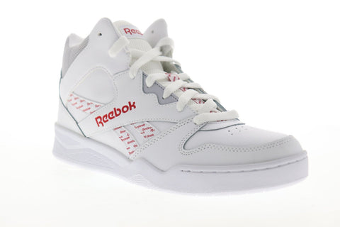 Reebok Royal BB4500 EF7823 Mens White Leather Lace Up High Top Sneakers Shoes