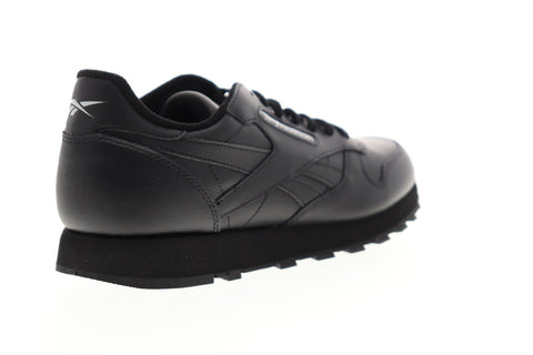 Reebok Classic Leather EG3622 Mens Black Lace Up Low Top Sneakers Shoes