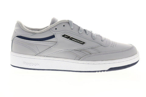 Reebok Club C Revenge EG4298 Mens Gray Leather Lace Up Low Top Sneakers Shoes