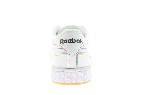 Reebok Club C 85 Mens White Leather Low Top Lace Up Sneakers Shoes